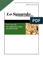 Lo Sguardo Rivista Di Filosofia Vol v 2011