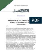 A Organizacao Das Massas Operarias Contra o Governo e Os Patroes