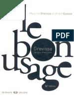 Le Grevisse - Le Bon Usage - Grammaire Française