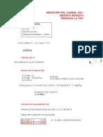Cálculo Del Caudal (Q) en Un Canal Trapezoidal Abierto Revestido de Hormigón Mediante La Fórmula de Manning