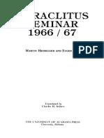 Heidegger - Heraclitus Seminar 1966 67