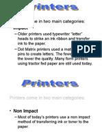 Basic Printers