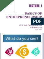 Lecture 1 - Basics of Entrepreneurship