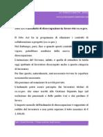Jobs Act e Indennità Di Disoccupazione in Favore Dei Co.co.Pro.