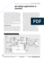 Interfacing high-voltage applications to low-power controllers