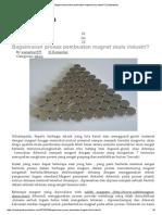 Bagaimanan Proses Pembuatan Magnet Skala Industri