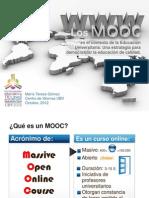 Los MOOCs en el contexto de la Educación Universitaria