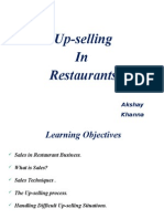 Up-selling in Restaurant