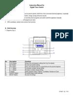 Programmable Digital Timer EF700ET Manual (E)