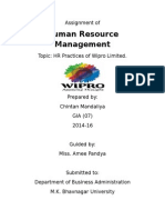 hrm policy in wipro