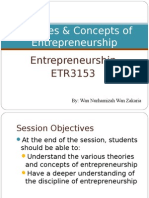 Week 1 Theories Concepts of Entrepreneurship