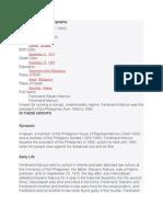 Ferdinand Marcos Biography