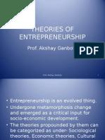theoriesofentrepreneurship-130409045555-phpapp01