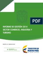 Informe_gestión_2014sc Comercio Industria y Turismo