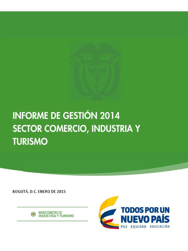 Informe gestión 2014sc Comercio Industria y Turismo d0fdb70e3b6