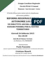 Volantino Incontro EELL 26-02-2015 Manzano