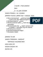 Hukum Pidana Islam