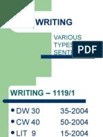 Writing Various Types of Sentences