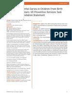 Recomendaciones profilaxis Caries 1-5 Años barniz fluor