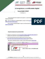 Instructiuni Inregistrare ANAF Semn Digitala
