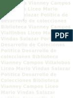 Politica Desarrollo de Colecciones del CRA Vianney Campos