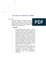 Télédétection Radar - Exercice Exercice de Reflexion (TR8)