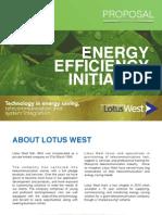 Energy Efficiency Initiative Proposal