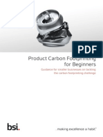 BSI Sustainability Guide Product Carbon Footprinting for Beginners UK En