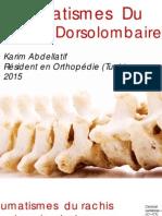 Traumatismes Du Rachis Dorso-Lombaire
