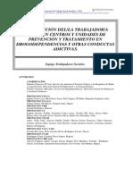 Interven Del TSS en Cyu de Prevencion Tratamiento de Drogodependencias