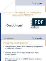 How to Convert Batch Into MCSGP Knauer