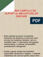 Anatomia Campului de Suport Al Implanturilor Dentare