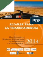Alianza para la Transparencia. Plan de Acciones y Monitoreo de Resultados de los Proyectos en Transparencia