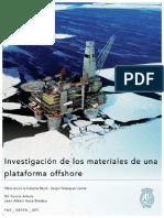 Investigacion de Los Materiales de Una Plataforma Offshore