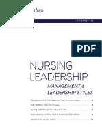 2013 Nursing Leadership Management Leadership Styles