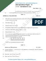 2nd PU Maths Model QP 4