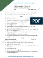 2nd PU Maths Model QP 1