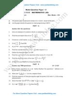 2nd PU Maths Model QP 2