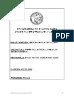 Programa de Didáctica Gral. (Varela-Perroti) - 1º C 2015