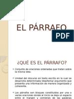 EL PÁRRAFO Y SUS TIPO