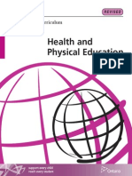 Ontario health and physical education curriculum, secondary school