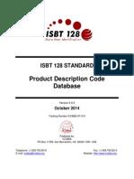 ST 010 ISBT 128 Standard Product Description Code Database v6.0.0