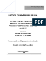 Sistema control de inventarios mediante la tecnología RFID