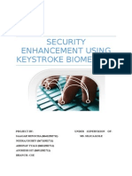 Security Enhancement Using Keystroke Biometrics