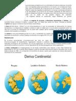 Derivada Continental Estruvtura Interna Tierra
