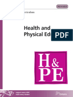 Elementary Health and Physical Education curriculum