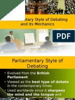 Parliamentary Style of Debating