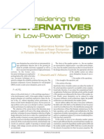 Considering the Alternatives in Low Power Design