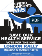 Defend London's NHS 10 March RALLY
