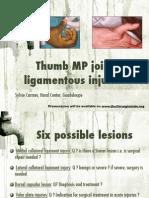 Thumb MP Joint Injuries-Qatar 2015